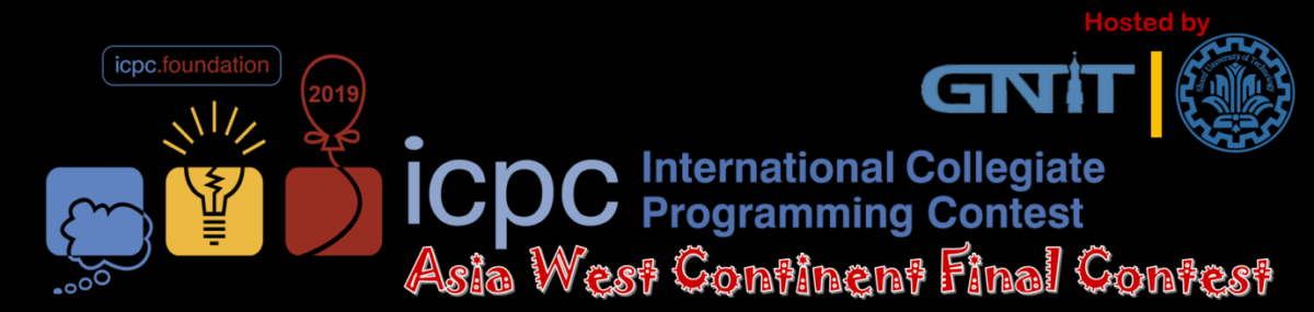 The 2019 ICPC Asia -West Continent Final Contest